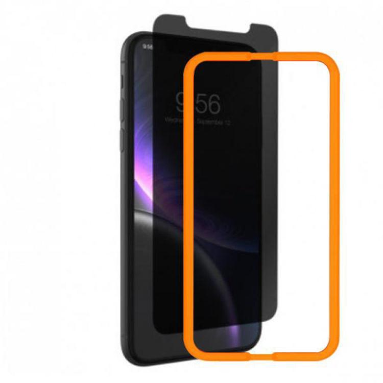 صورة Grip2u Anti-Microbial Glass Privacy Screen Protection for iPhone 12 - 12 Pro