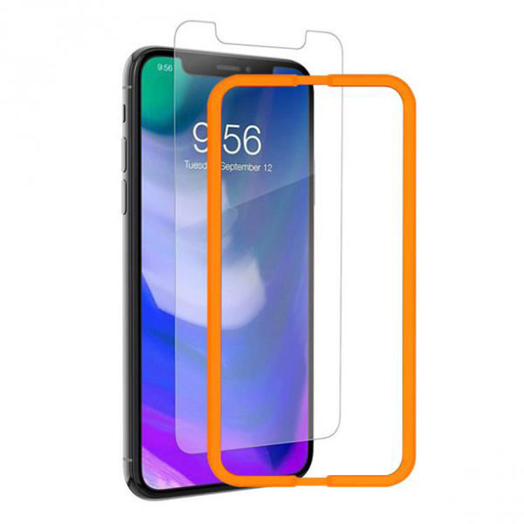صورة Grip2u Blue Light Anti-Microbial Glass Screen Protection for iPhone 12 - 12 Pro
